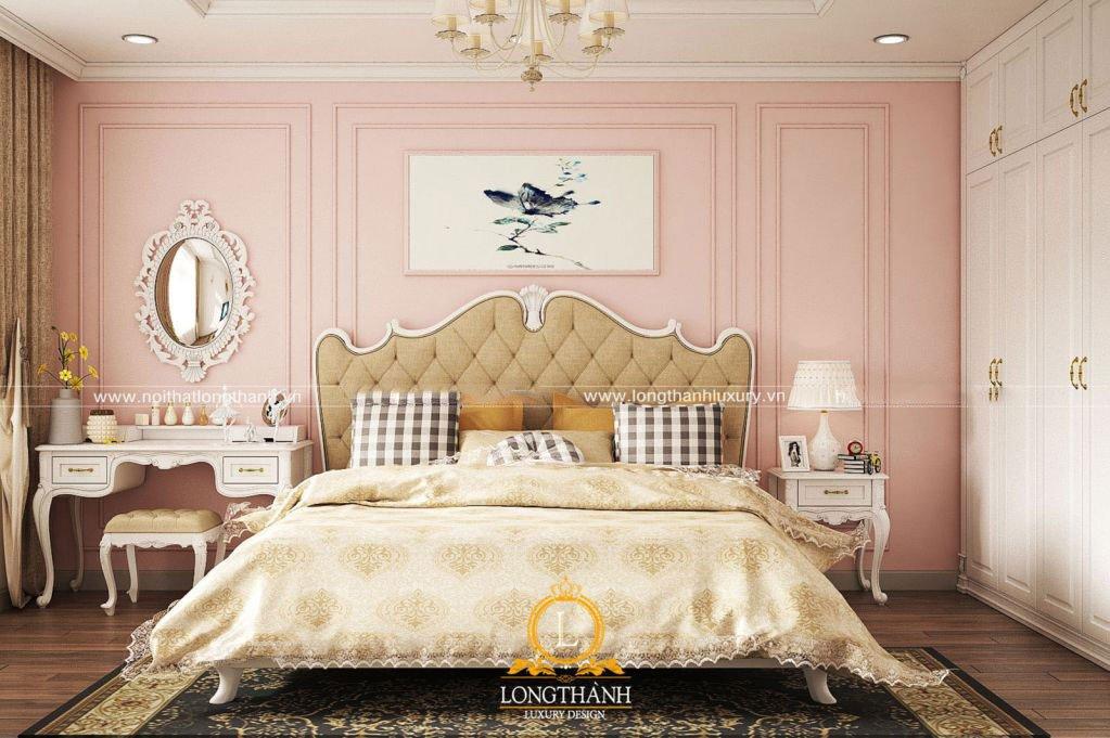 Phòng ngủ nữ tính mang xu hướng tân cổ điển hiện đại