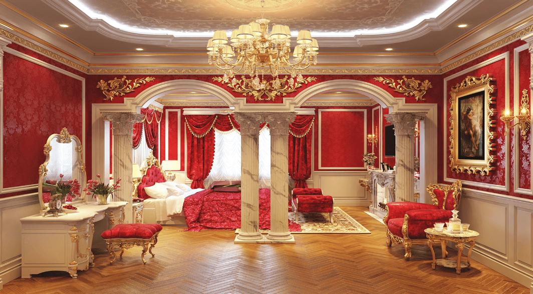 Phòng ngủ tân cổ điển Pháp lãn mạnh và ấm cúng