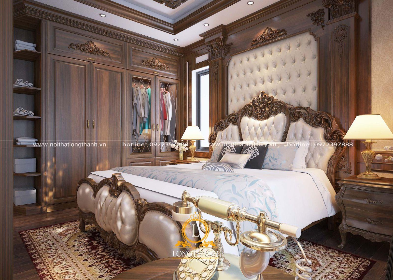 Phòng ngủ tân cổ điển thoải mái, dễ chịu