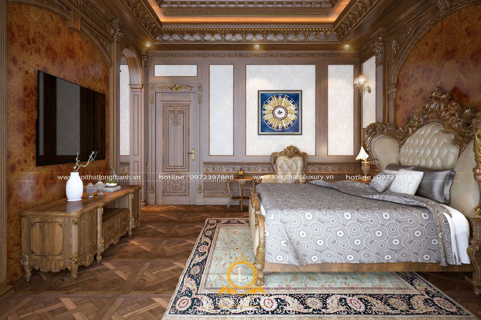 Cả không gian phòng ngủ đều lung linh, tráng lệ