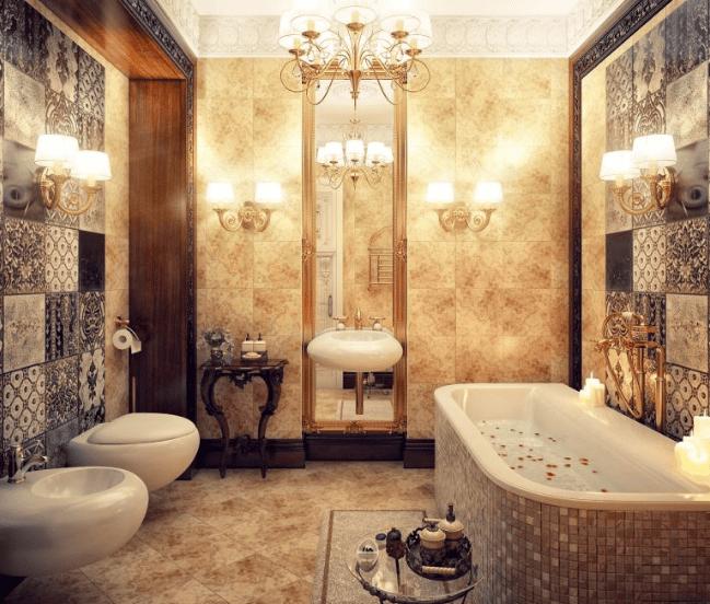 Thiết kế phòng tắm theo kiểu cổ điển của Châu Âu