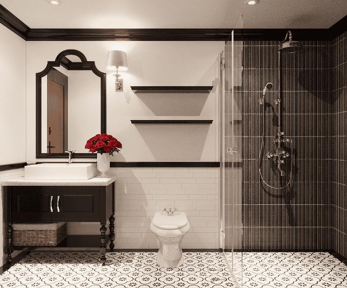 Phòng tắm phong cách Indochine