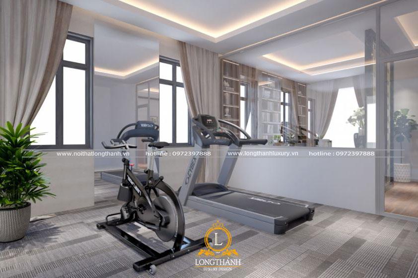 Thiết kế phòng thể dục đơn giản cho nhà biệt thự