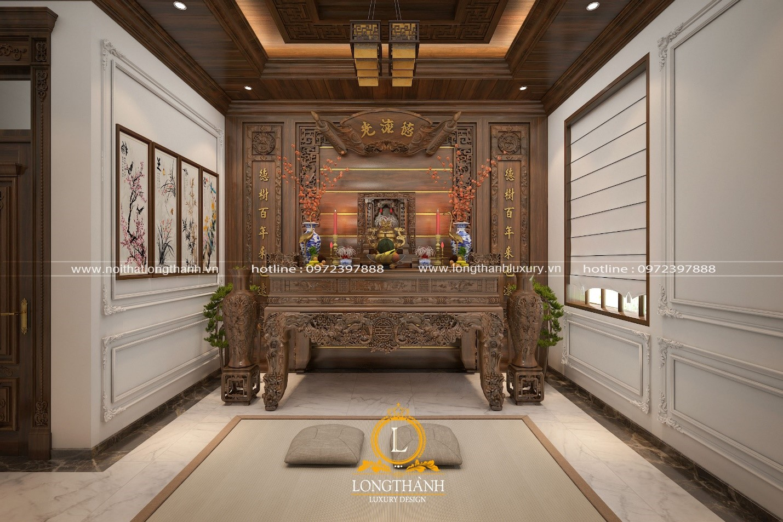 Phong các nội thất tân cổ điển gỗ tự nhiên