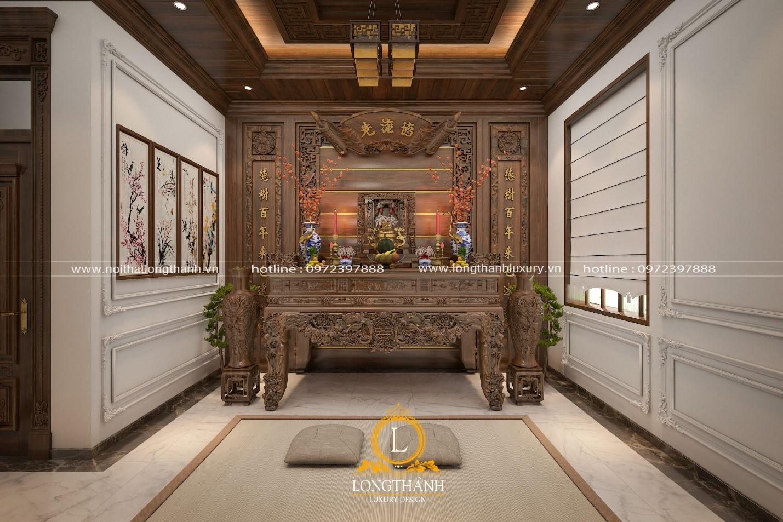 Bàn thờ gỗ Gụ được sử dụng cho nhiều không gian và thiết kế khác nhau