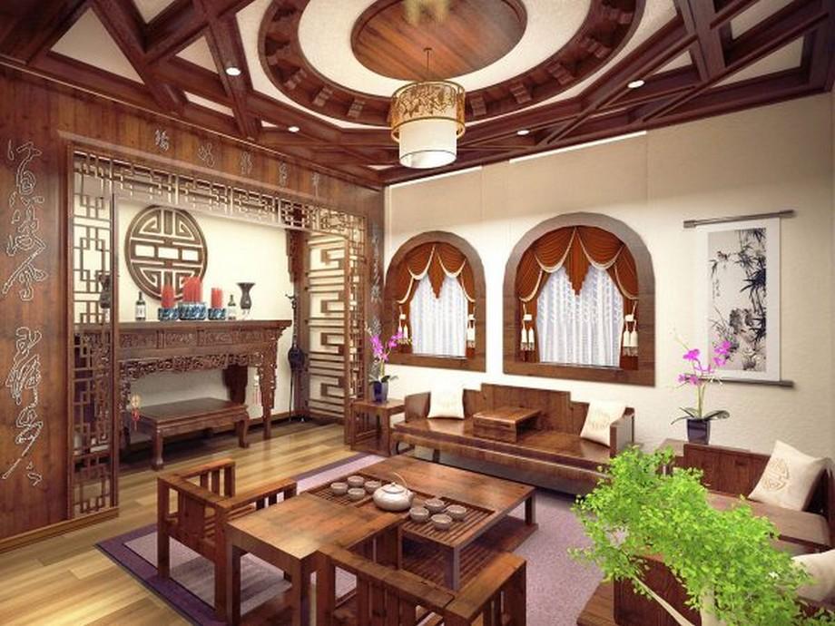 Phòng thờ đặt đối diện phòng khách