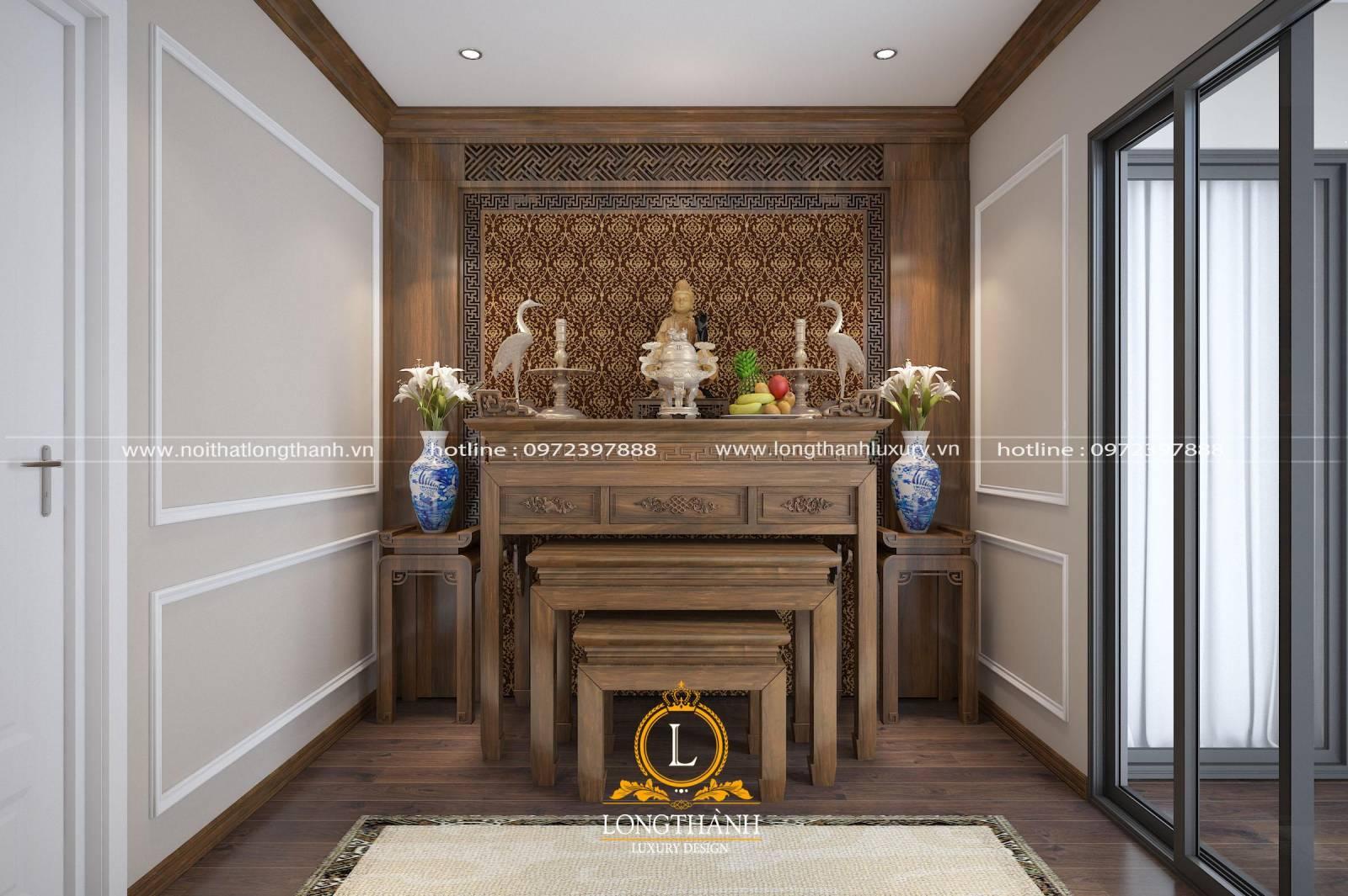 Thiết kế bàn thờ tân cổ điển hiện đại cho nhà chung cư