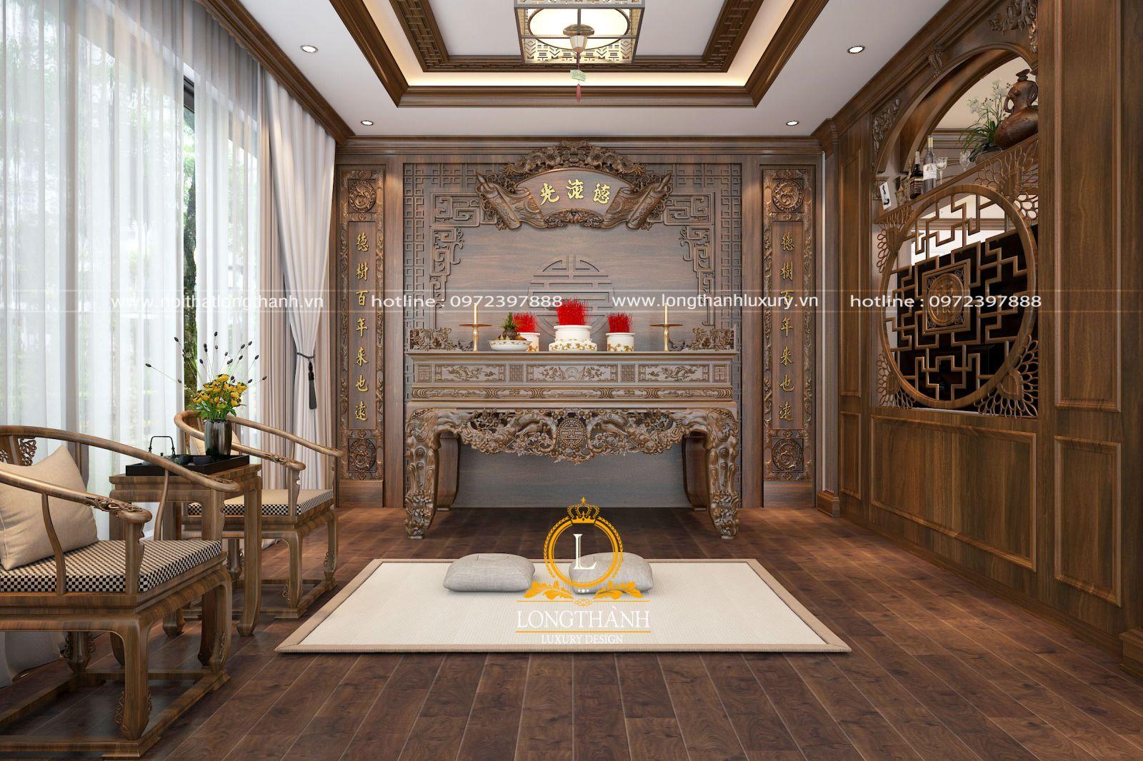 Phòng thờ gỗ tự nhiên cao cấp