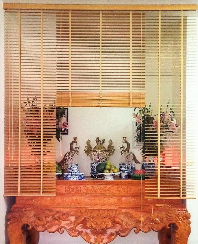 Rèm sáo gỗ cho bàn thờ thanh tịnh