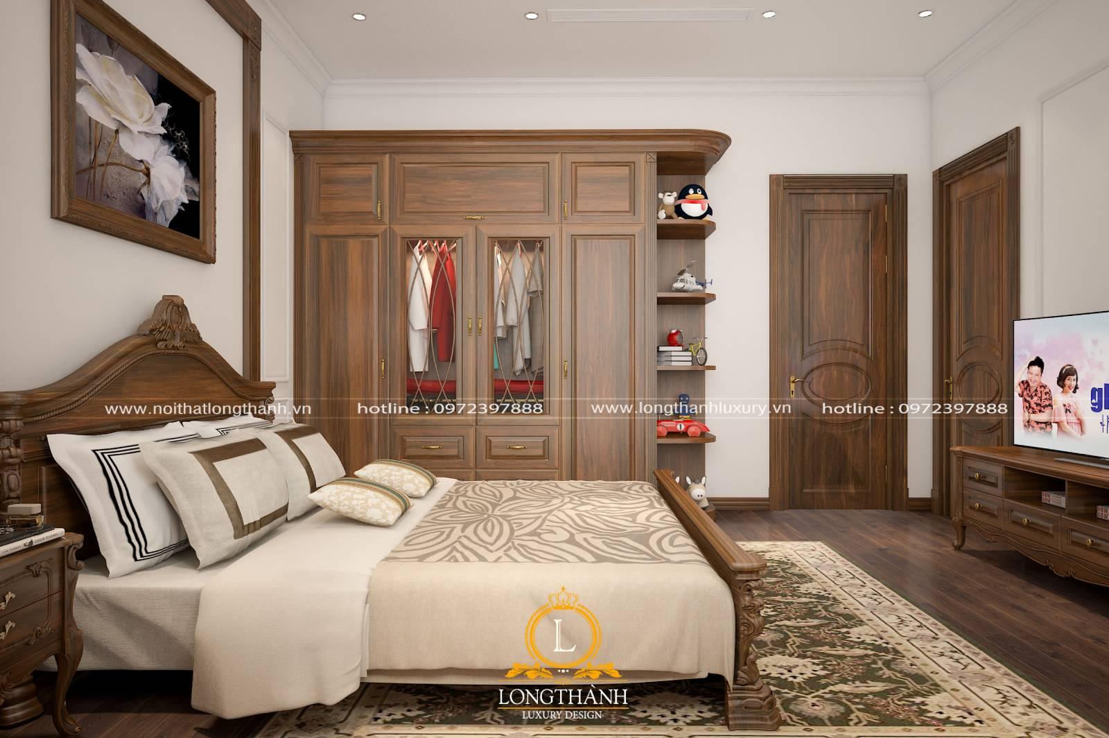 Sản phẩm cửa gỗ lim cao cấp cho không gian phòng ngủ sang trọng