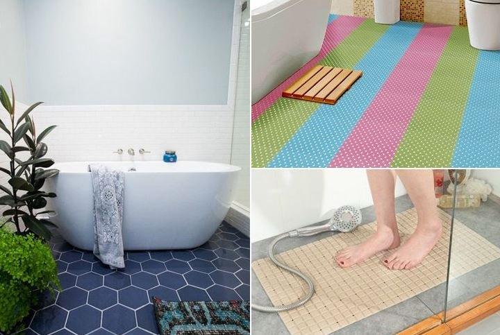 Nên chọn sàn chống trượt cho phòng tắm người cao tuổi