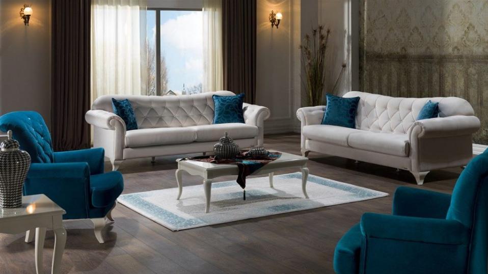 sofa nỉ có kiểu dáng đẹp và mầu sắc bắt mắt