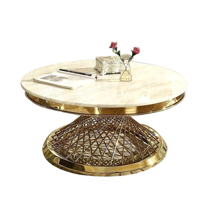 Sofa bàn tròn mặt đá tinh tế