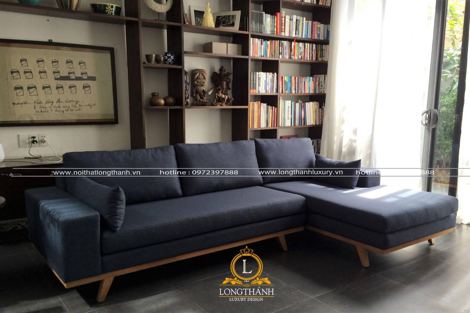 Sofa chữ l theo thiết kế tân cổ điển nhỏ gọn cho chung cư