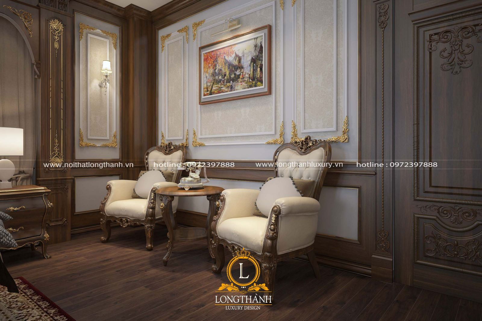 Sofa đơn phòng ngủ kết hợp bàn trà xinh xắn