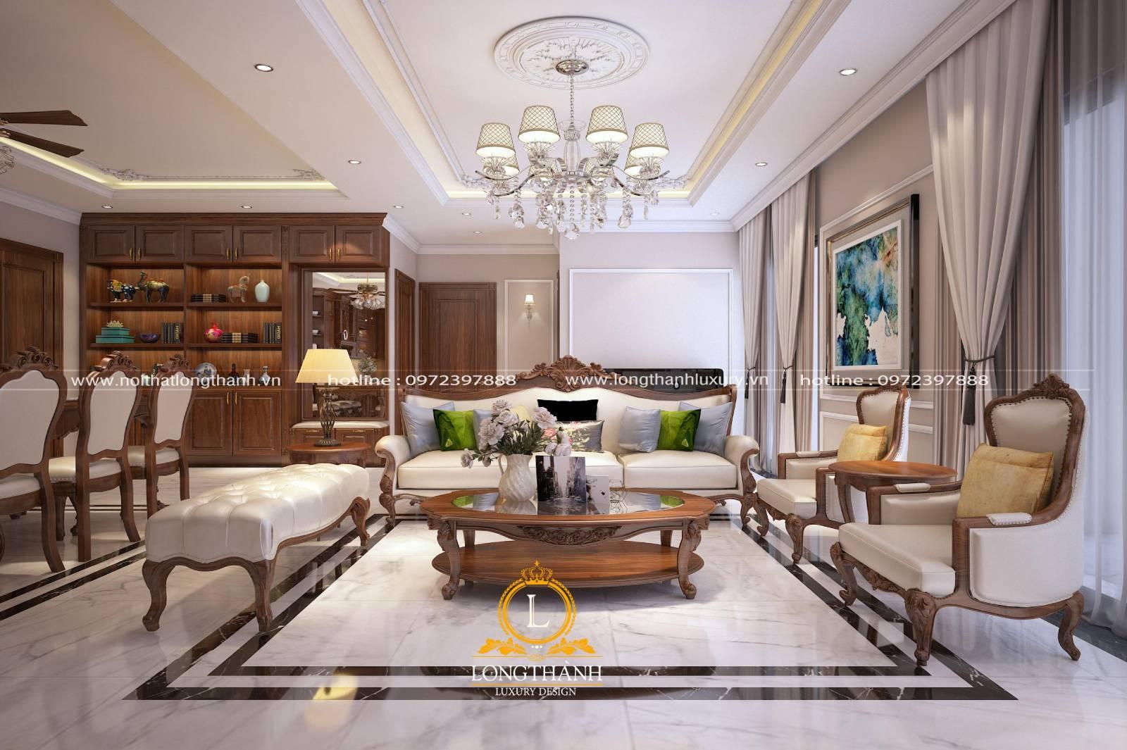 Sofa gỗ phù hợp với mọi phong cách thiết kế nội thất phòng khách