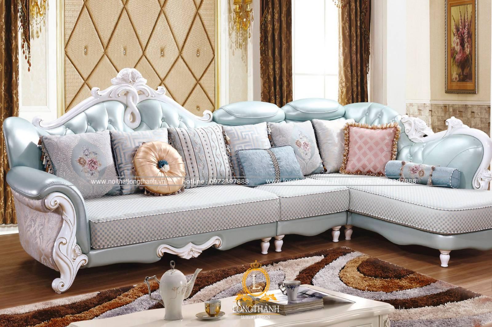 Sofa góc cho phòng khách hiện đại tiện nghi thoải mái