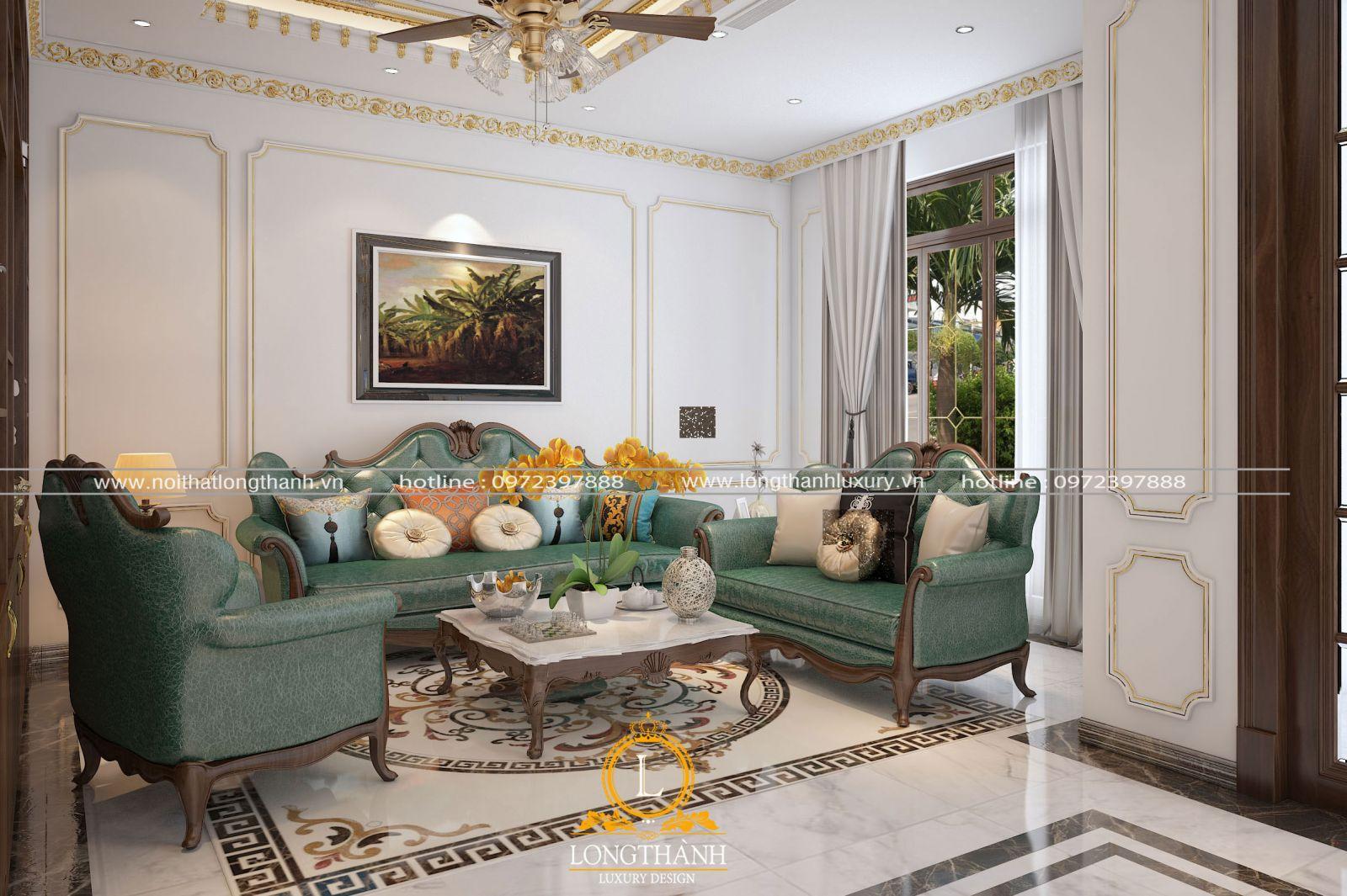 Sofa nỉ tân cổ điển mang đến cảm giác êm ái, thoải mái cho người sử dụng