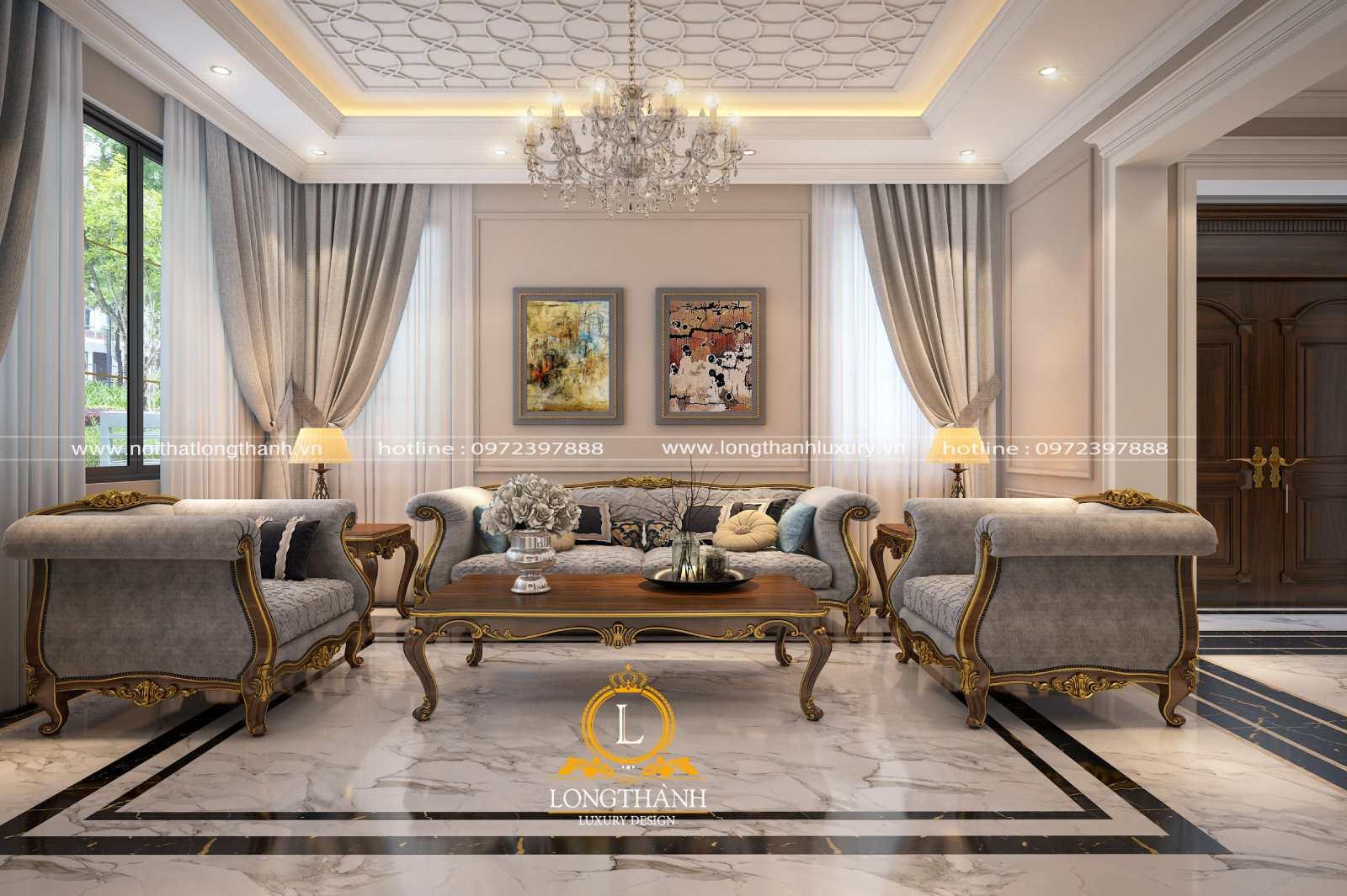 Sofa phòng khách sang trọng tạo sự thoải mái cho người dùng