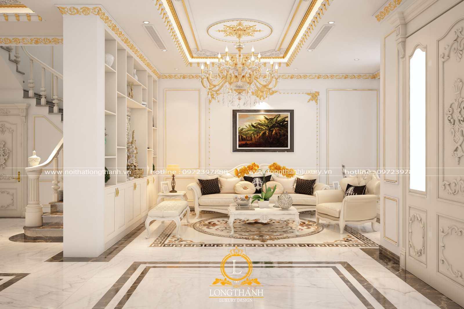 Sofa phòng khách tân cổ điển tăng thêm vẻ đẹp và thẩm mỹ