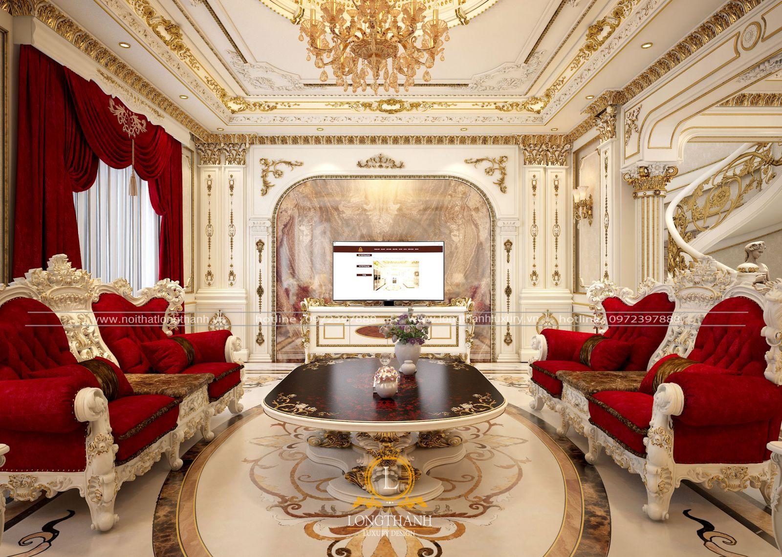 Sofa tân cổ điển theo phong cách Hoàng gia