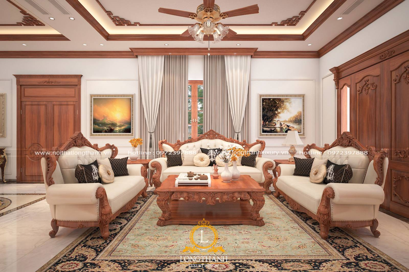 Sofa văng đem lại sự tiện lợi và giá trị thẩm mỹ cao cho phòng khách