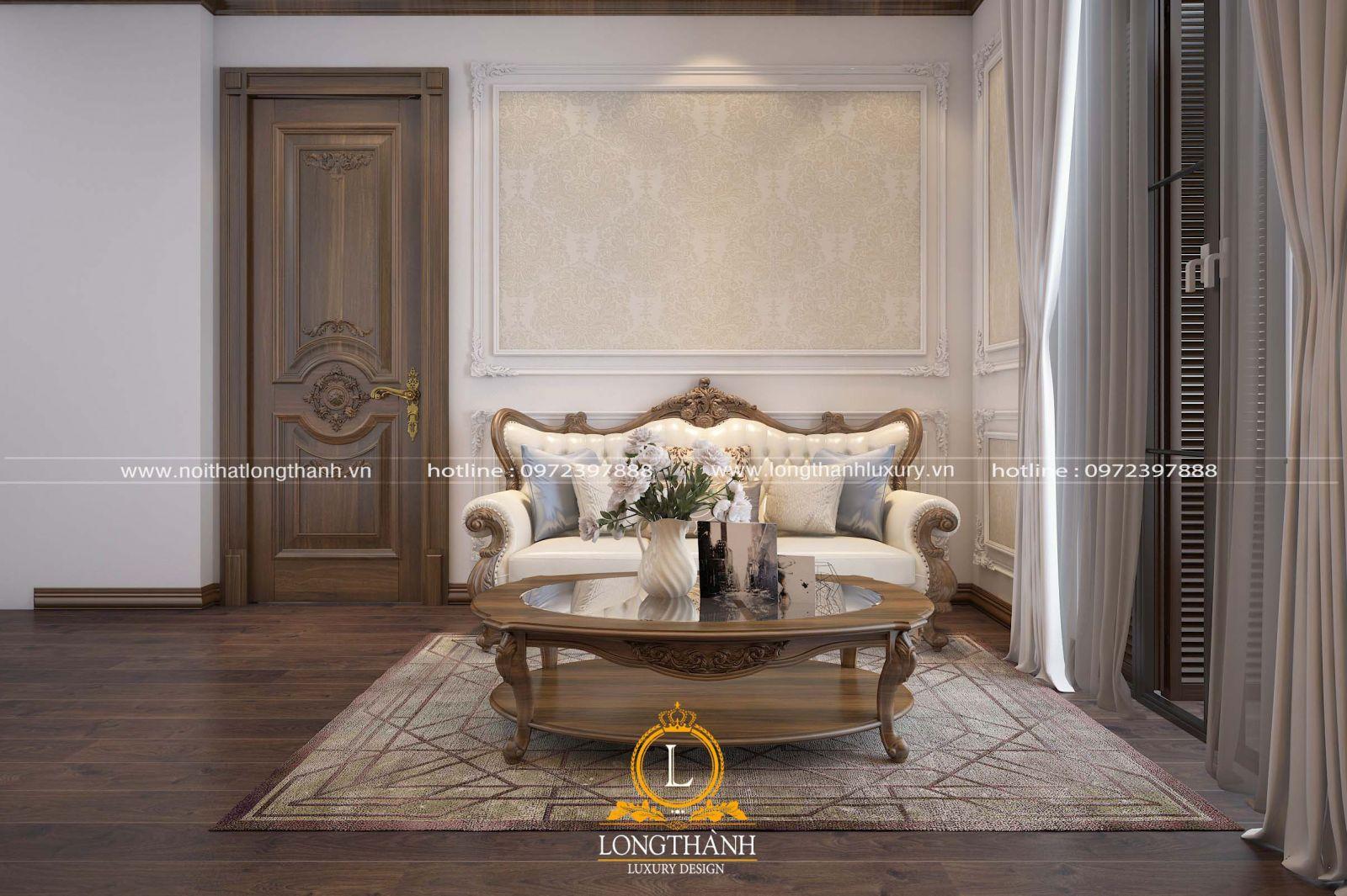 Sofa văng nhỏ gọn cho không gian phòng khách