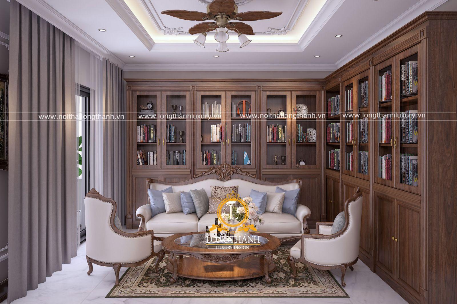 Sofa văng tân cổ điển gỗ tự nhiên đẹp cuốn hút