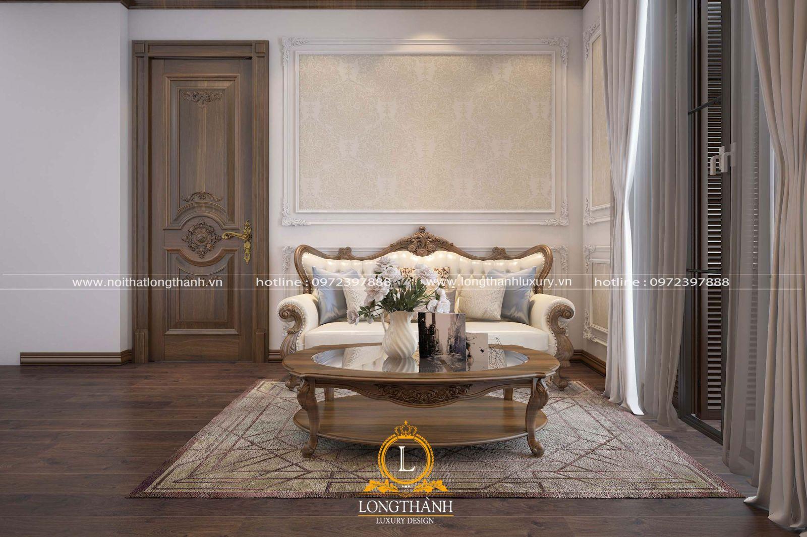 Sofa văng tân cổ điển cho phòng khách