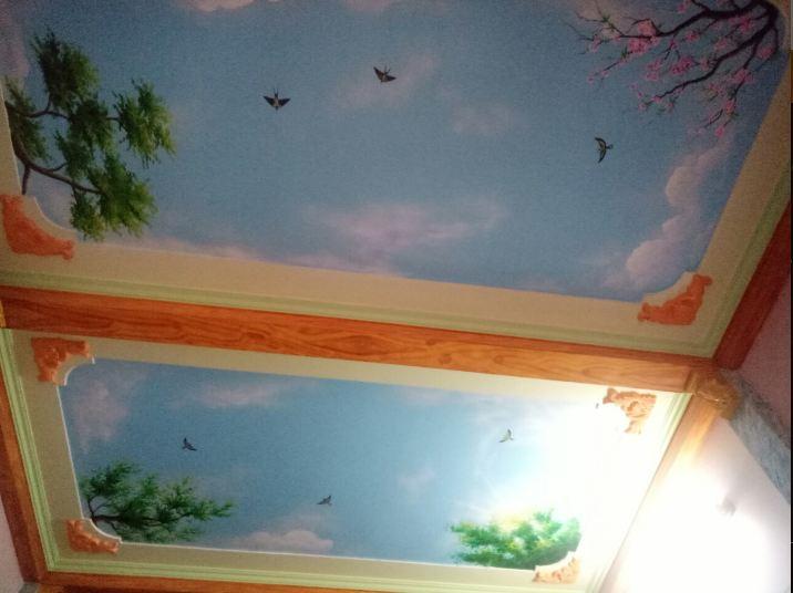 Sơn trần nhà với nhiều màu sắc độc đáo