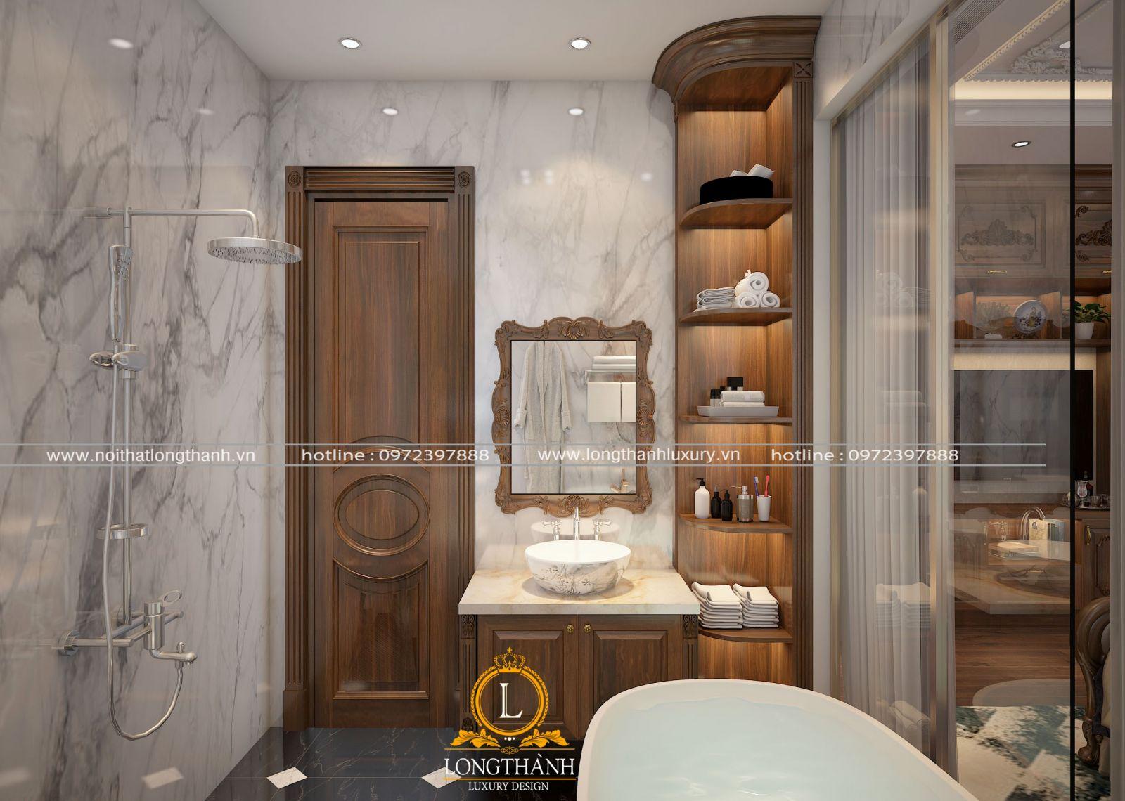 gỗ gõ đỏ cho phòng tắm