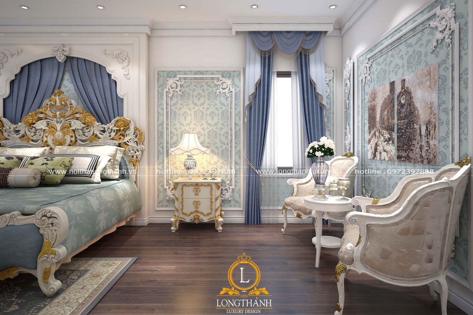 Tab đầu giường sơn màu trắng mang đến cảm giác nhẹ nhàng, thanh lịch
