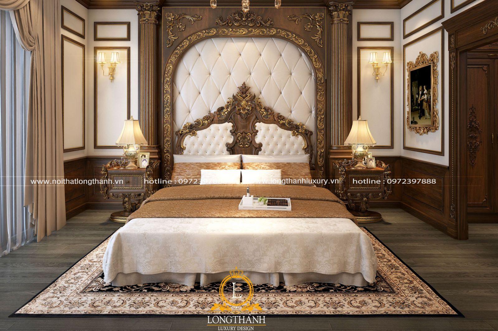 Táp đầu giường cho phòng ngủ hoàng gia