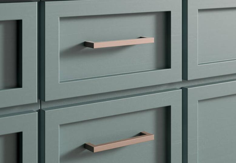 Mẫu tay nắm tủ bếp chữ D cho dành cho thiết kế tủ bếp kiểu hiện đại