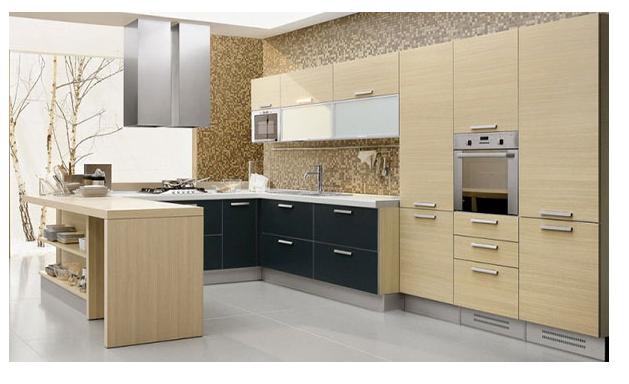 Thiết kế tủ bếp hiện đại sử dụng các loại tay nắm tủ dạng dẹt - thanh