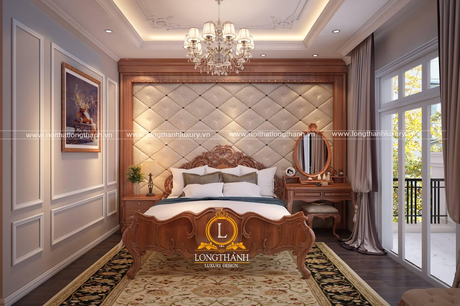 Thi công phòng ngủ tân cổ điển đẹp và chuẩn chỉnh nhờ có bản thiết kế nội thất