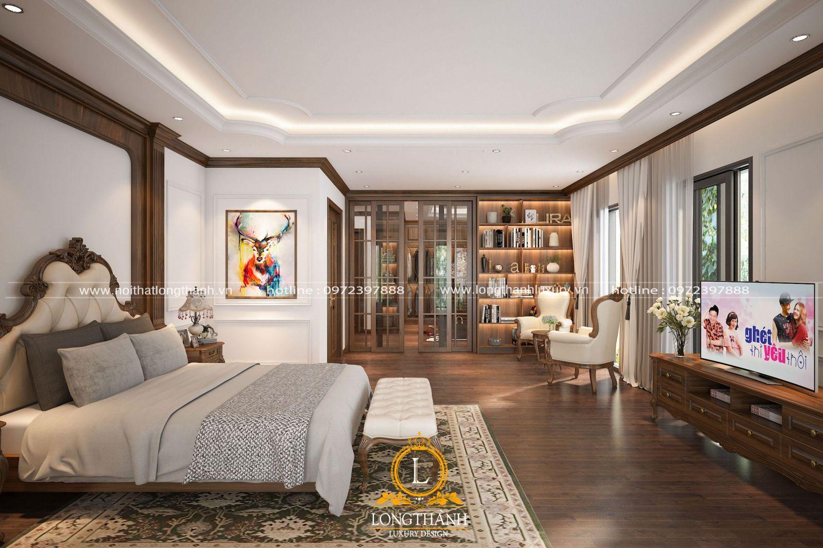 Thiết kế 3D phòng ngủ master nhà anh Tùng