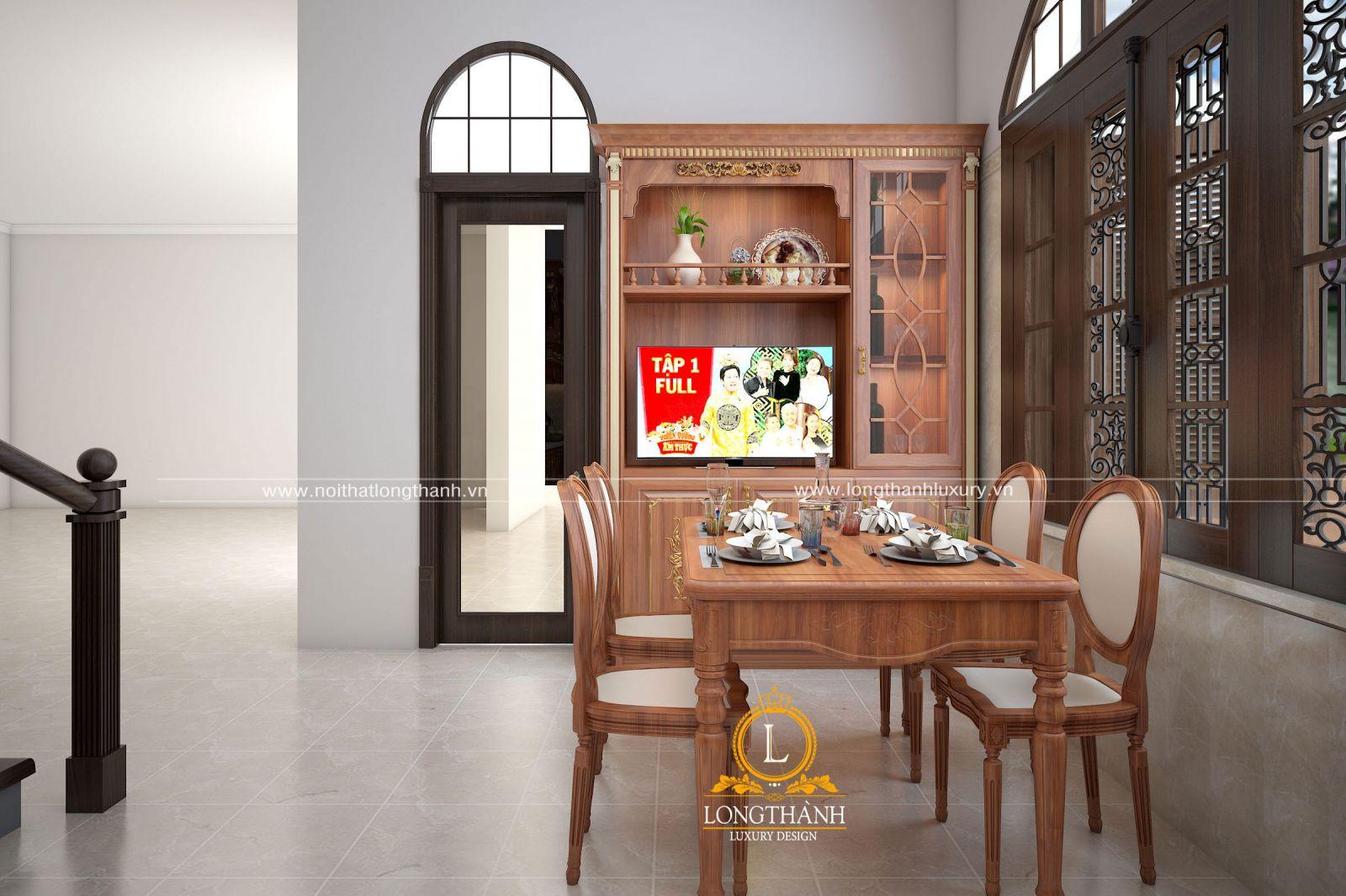 Thiết kế bàn ghế ăn 4 ghế đơn giản