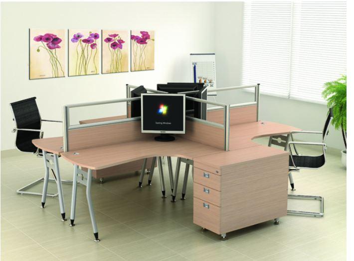 Thiết kế bàn làm việc chuẩn chiều cao với kiểu dáng đa dạng
