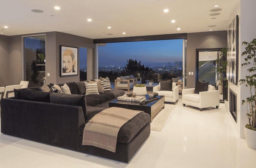 Thiết kế nội thất phòng khách biệt thự đẹp của các ngôi sao nổi tiết Hollywood