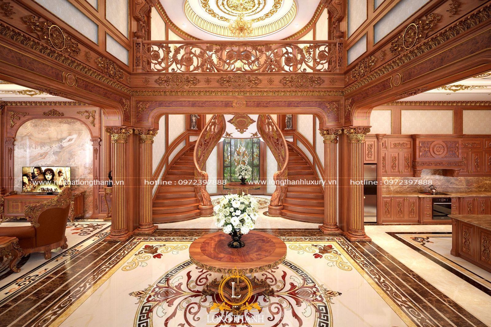 Thiết kế nội thất biệt thự chú trọng sử dụng vật liệu cao cấp, tự nhiên