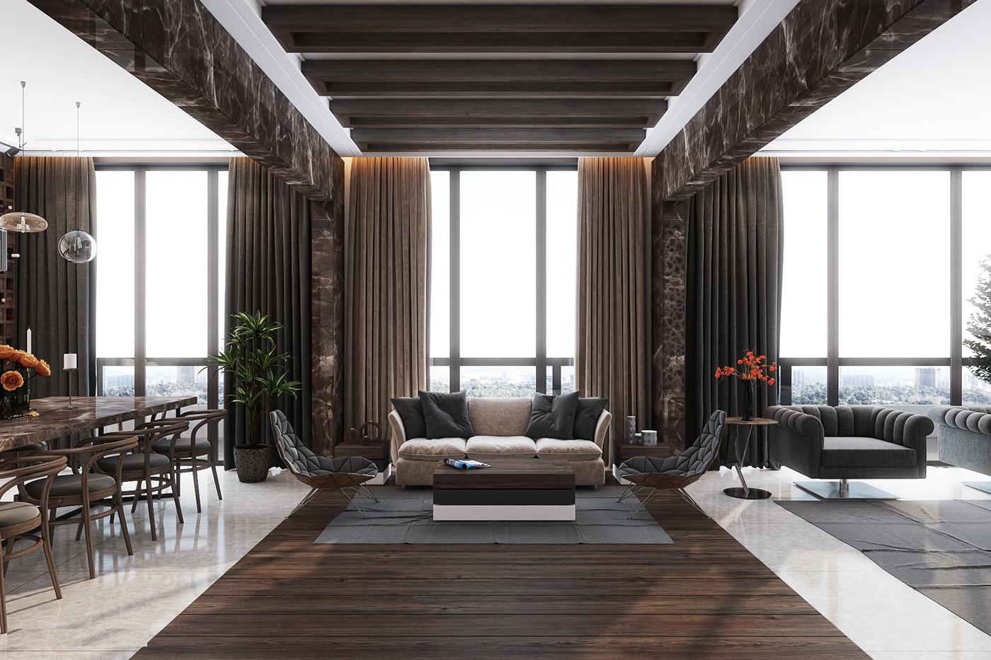 Thiết kế căn hộ pnethouse hiện đại tiện lợi
