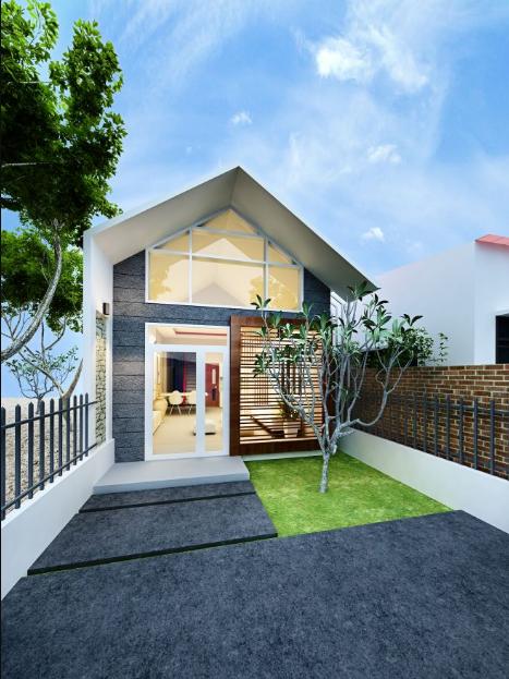 thiết kế mặt tiền nhà phố 1 tầng trong khu dân cư nhà san sát nhau