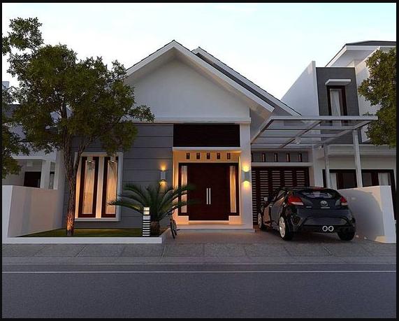 Thiết kế mặt tiền cho nhà 1 tầng theo phong cách hiện đại