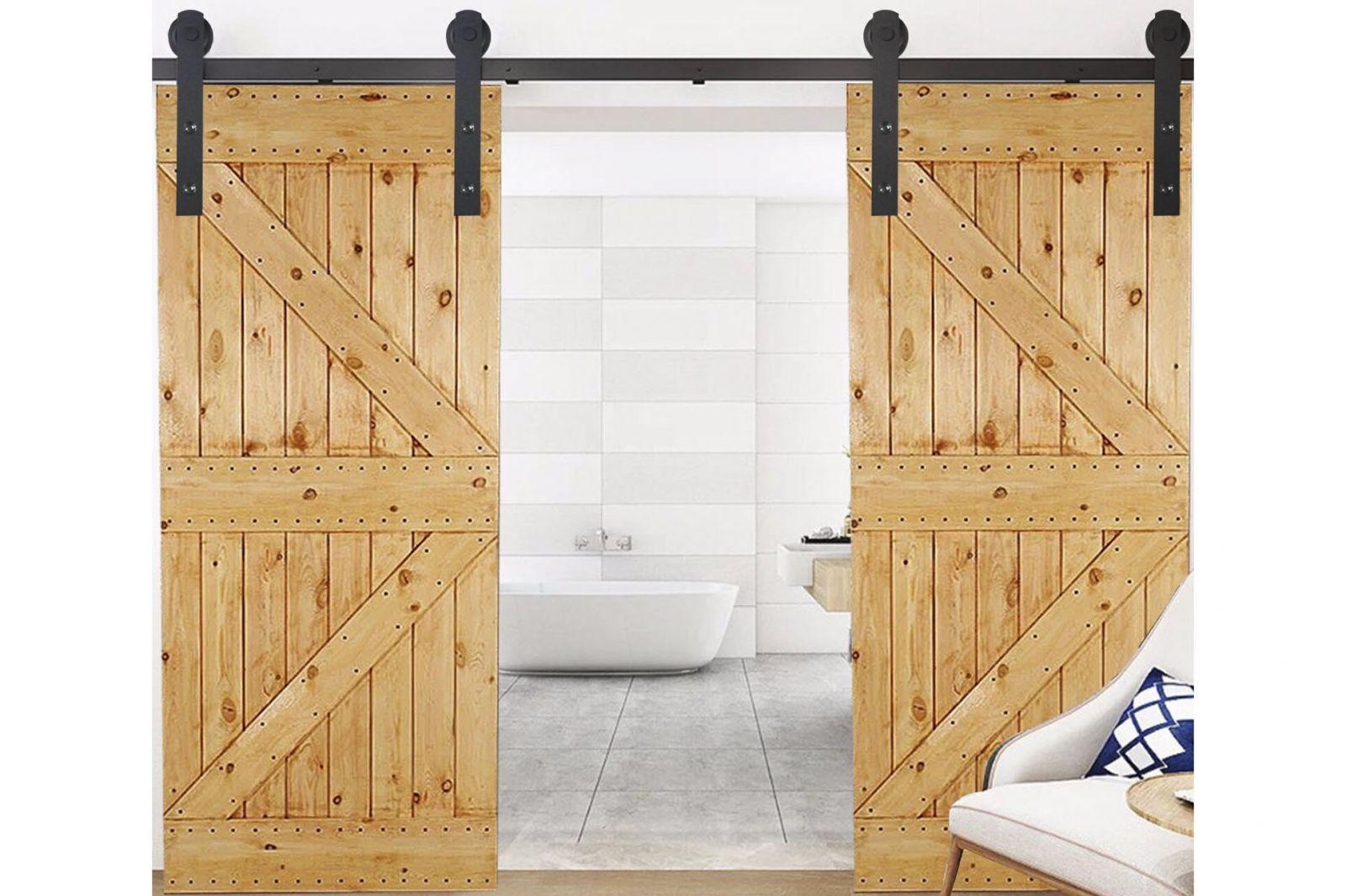 Thiết kế mẫu cửa lùa bằng gỗ cho phòng tắm hiện đại