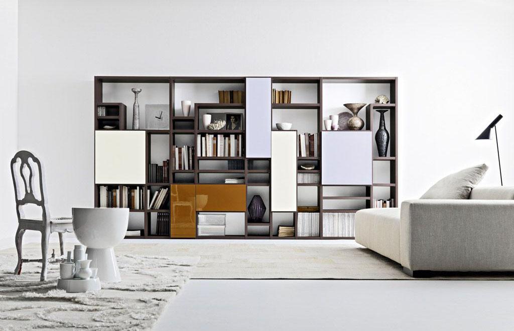 Thiết kế mẫu tủ sách bằng gỗ độc đáo