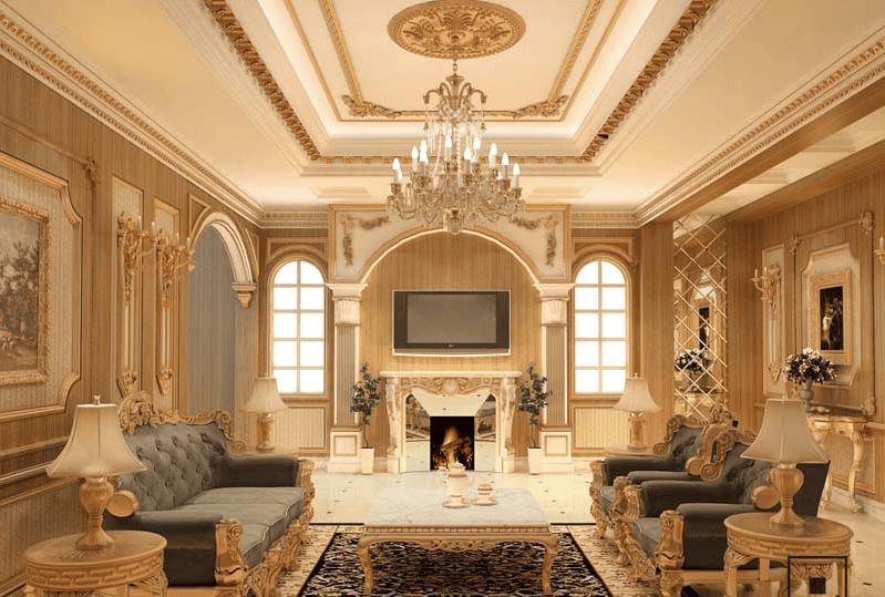 Thiết kế nội thất cổ điển Châu Âu với màu sắc nhẹ nhàng trang nhã
