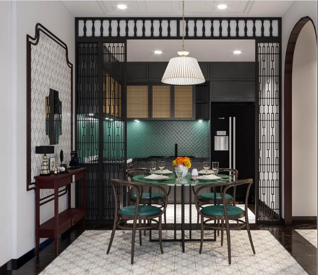 Mẫu thiết kế nội thất phòng bếp Đông Dương