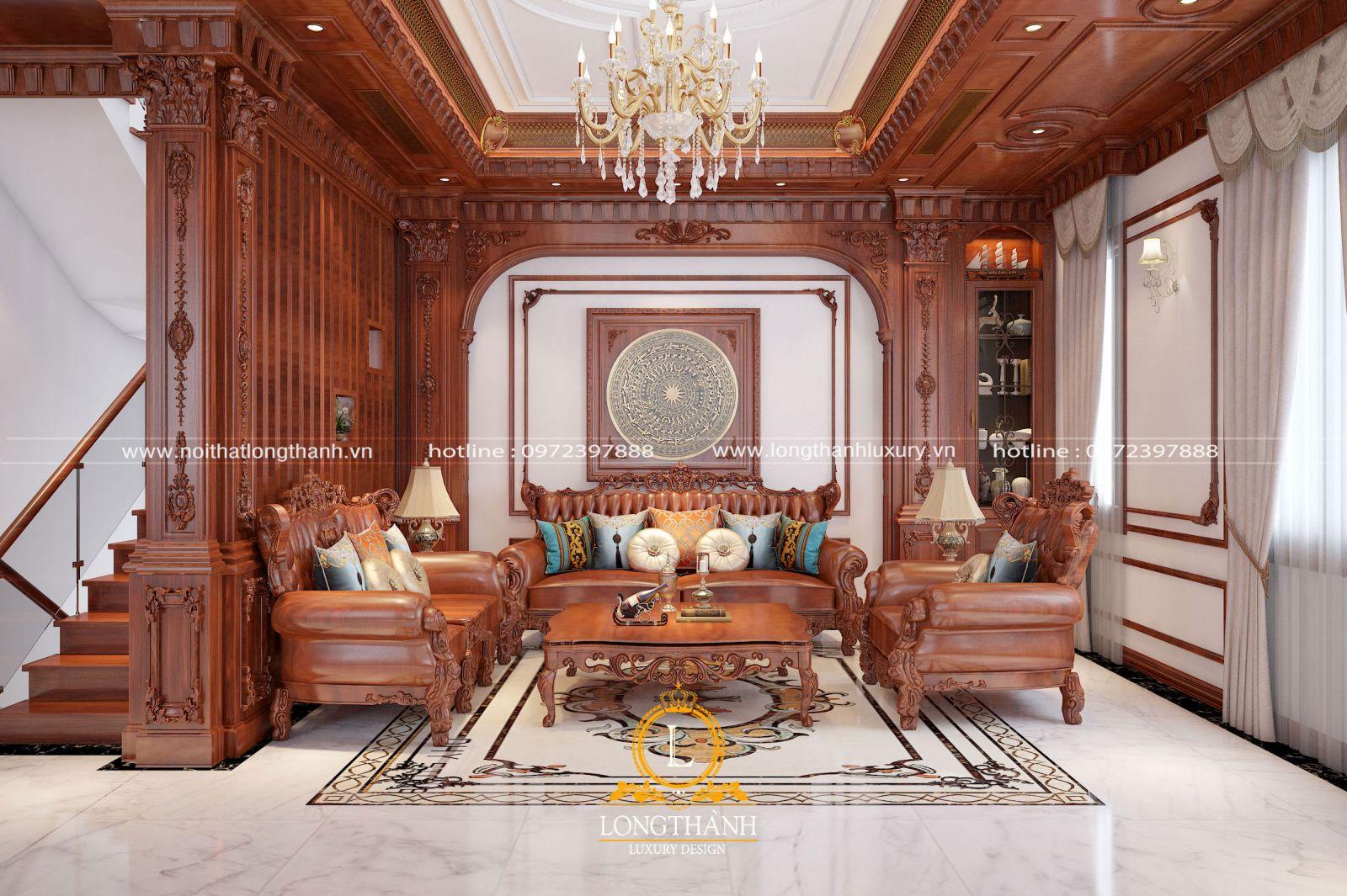 Thảm phòng khách tân cổ điển độc đáo