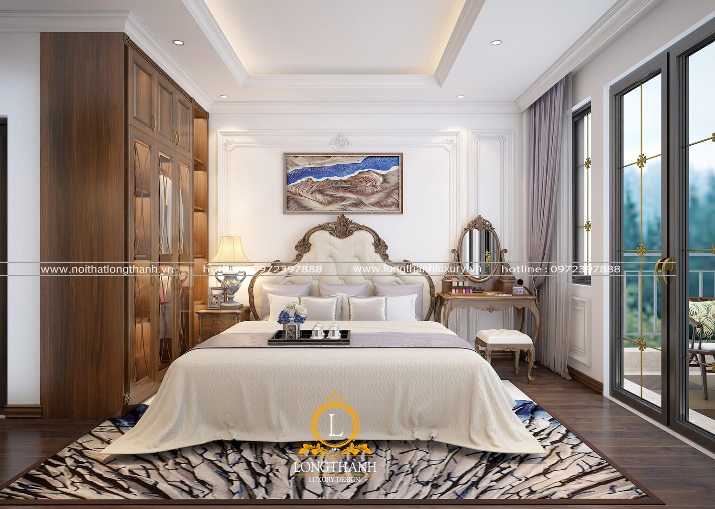 Thiết kế giường ngủ cao cấp sang trọng